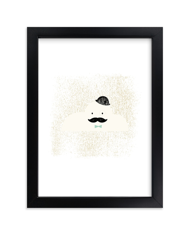 """""""Mr. Cloud"""" by fatfatin in beautiful frame options and a variety of sizes."""