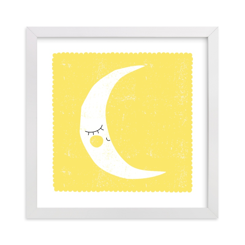 """""""Sleepy Moon"""" by Angela Thompson in beautiful frame options and a variety of sizes."""