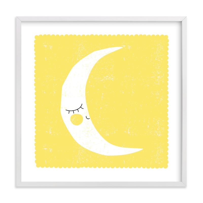 Sleepy Moon Children's Art Print