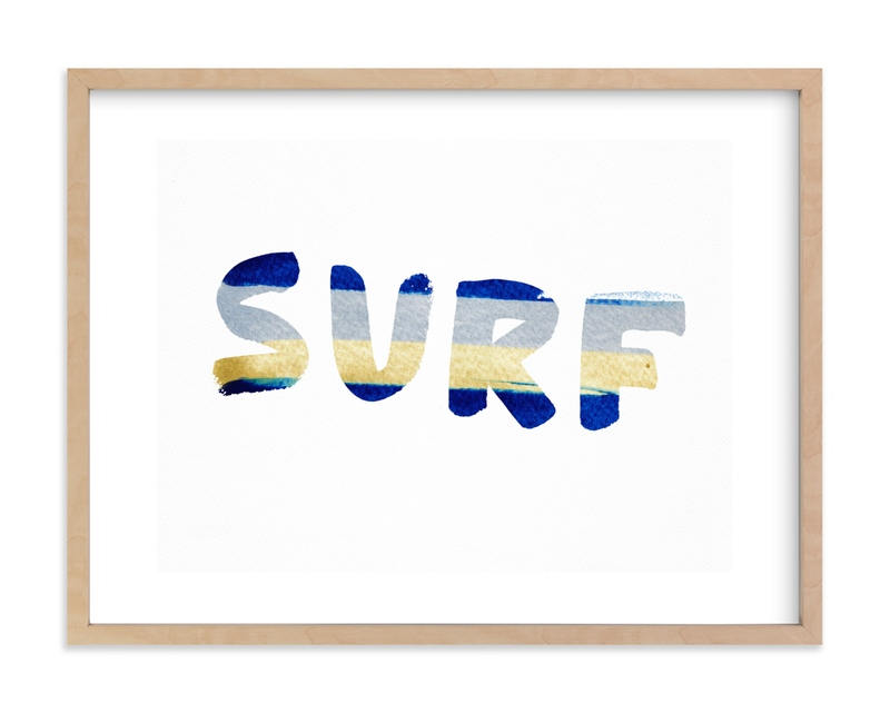 SURF and SUN Kids Open Edition Non-Custom Art Print