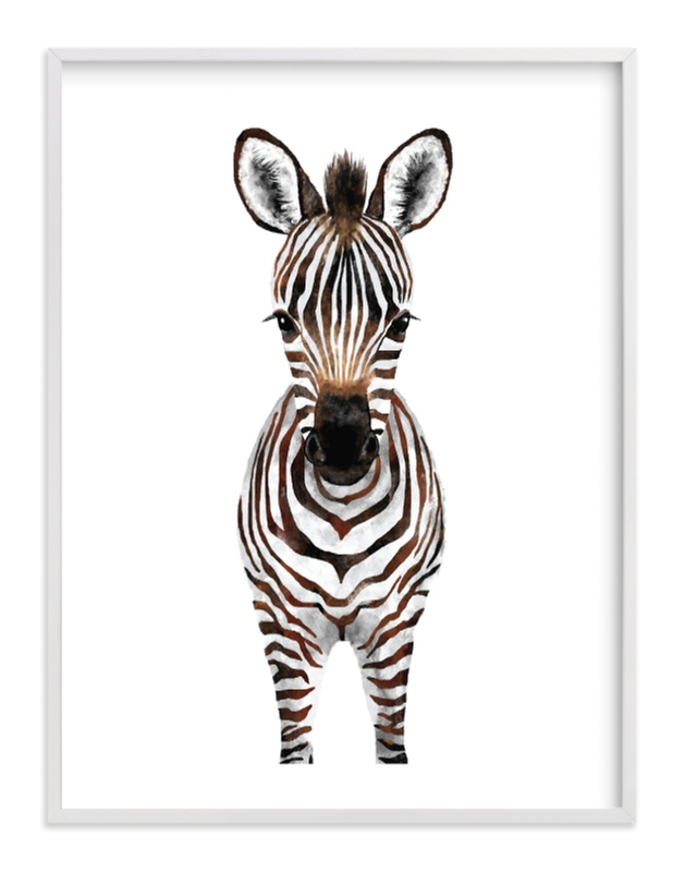 """""""Baby Zebra 2"""" by Cass Loh in beautiful frame options and a variety of sizes."""