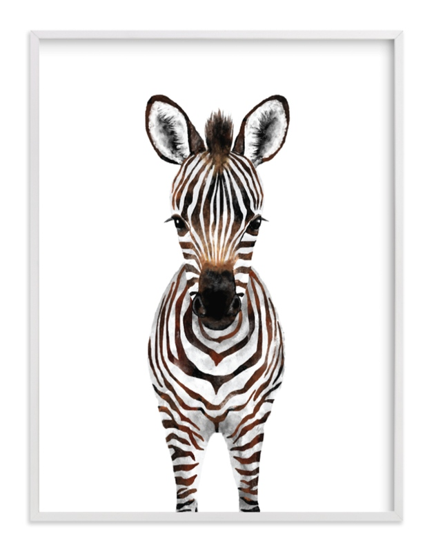 """Baby Zebra 2"" by Cass Loh in beautiful frame options and a variety of sizes."