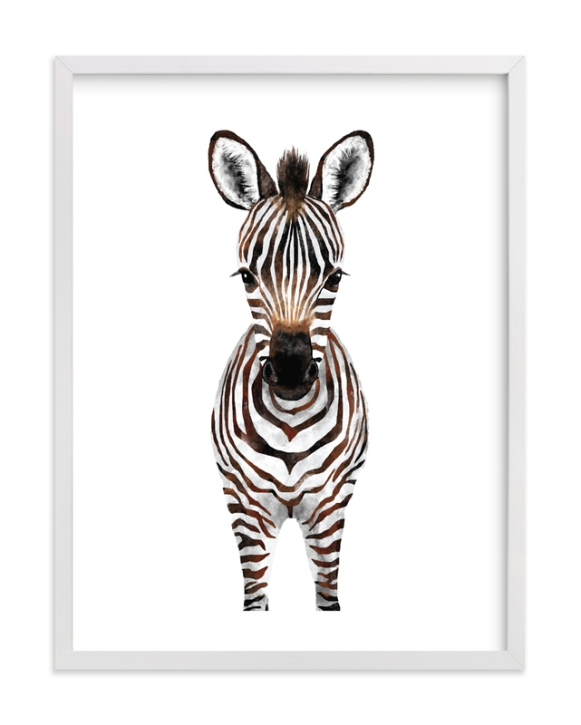 Baby Zebra 2 Kids Open Edition Non-Custom Art Print