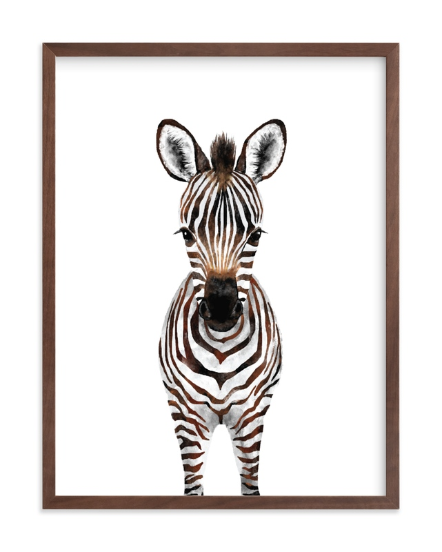Baby Zebra 2 Kids Open Edition Non-Custom Art Print