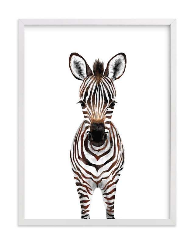 This is a brown art by Cass Loh called Baby Zebra 2 with standard.
