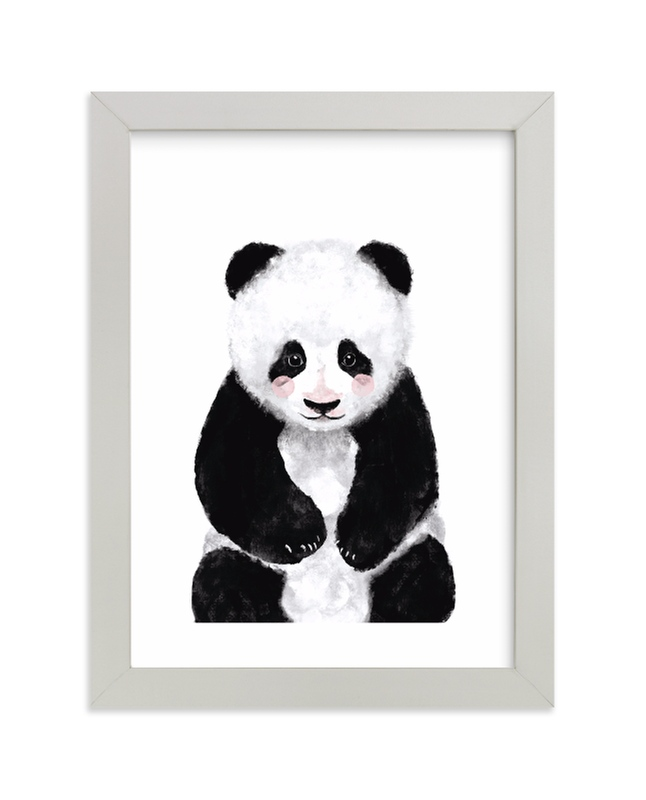 """Baby Panda"" by Cass Loh in beautiful frame options and a variety of sizes."