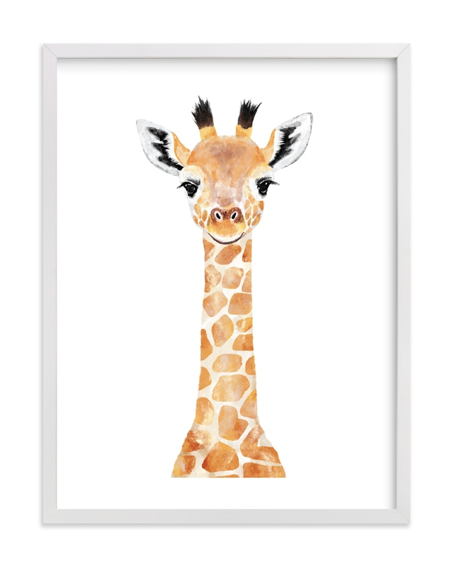 Baby Giraffe 2 Kids Open Edition Non-Custom Art Print