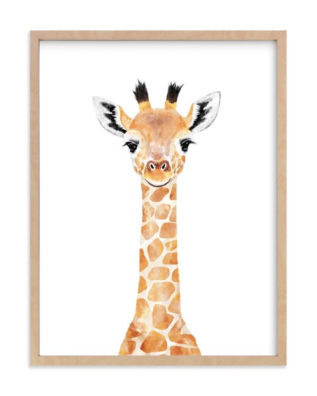 Baby Giraffe 2 Kids Art Print