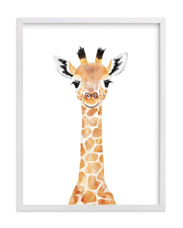 This is a beige art by Cass Loh called Baby Giraffe 2 with standard.