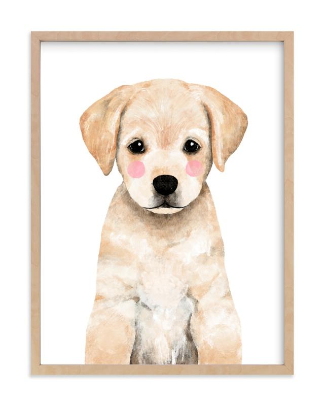 Baby Labrador Kids Open Edition Non-Custom Art Print