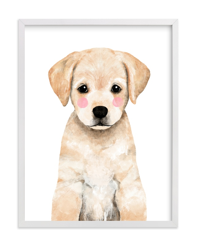 This is a yellow art by Cass Loh called Baby Labrador.