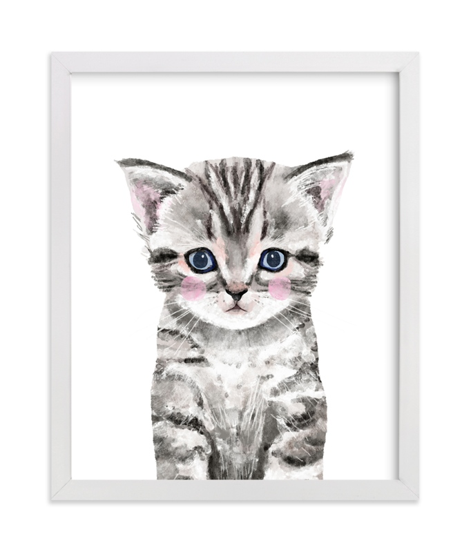 This is a grey art by Cass Loh called Baby Kitten with standard.