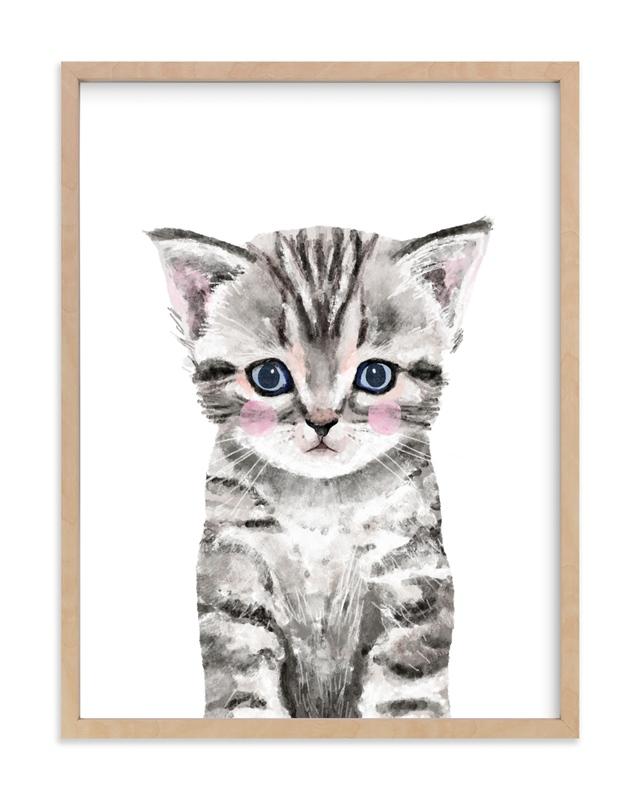 Baby Kitten Kids Open Edition Non-Custom Art Print