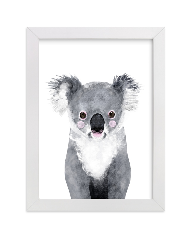 This is a white art by Cass Loh called Baby Koala.