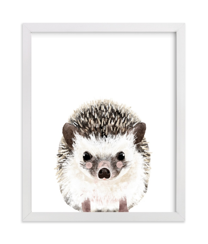 This is a brown art by Cass Loh called Baby Hedgehog with standard.