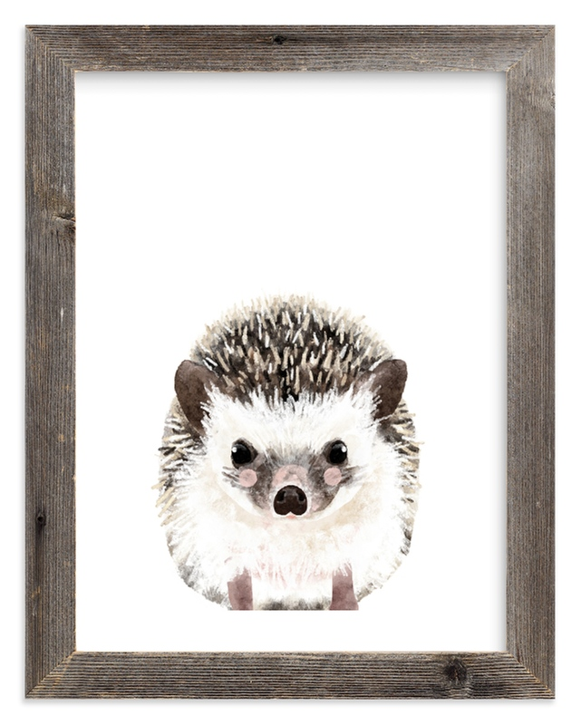 """Baby Hedgehog"" by Cass Loh in beautiful frame options and a variety of sizes."
