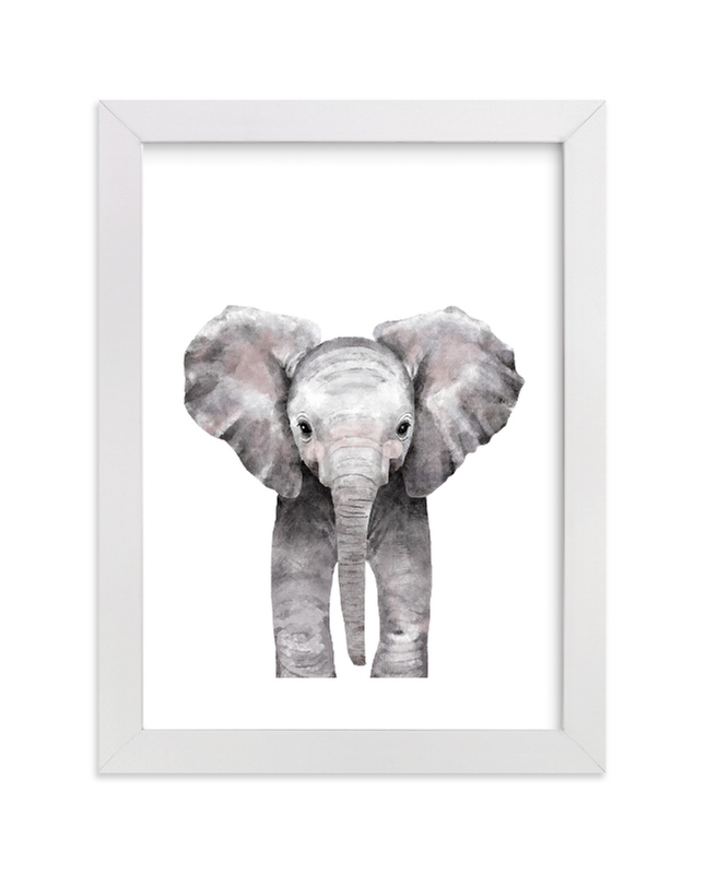 """""""Baby Animal Elephant"""" by Cass Loh in beautiful frame options and a variety of sizes."""
