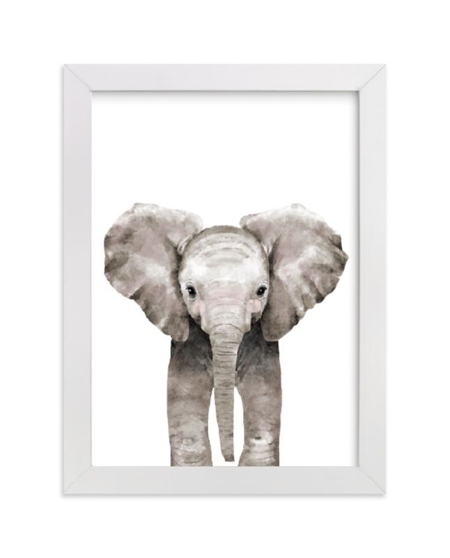 """Baby Animal Elephant"" by Cass Loh in beautiful frame options and a variety of sizes."