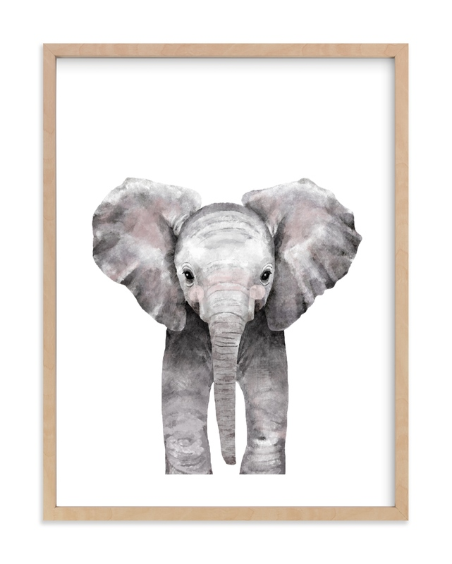 Baby Animal Elephant Kids Open Edition Non-Custom Art Print