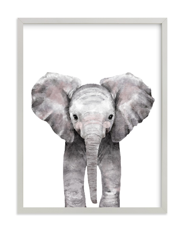Baby Animal Elephant Kids Art Print