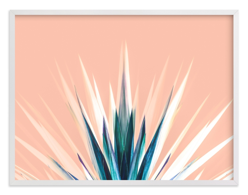 """Pastel Cactus"" by Lisa Sundin in beautiful frame options and a variety of sizes."