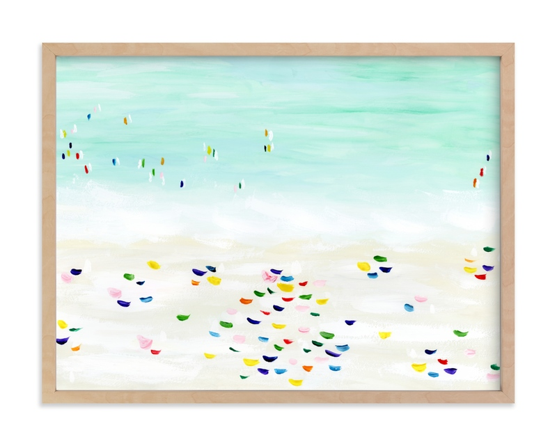 """Seaside vacation"" by Yaling Hou Suzuki in beautiful frame options and a variety of sizes."