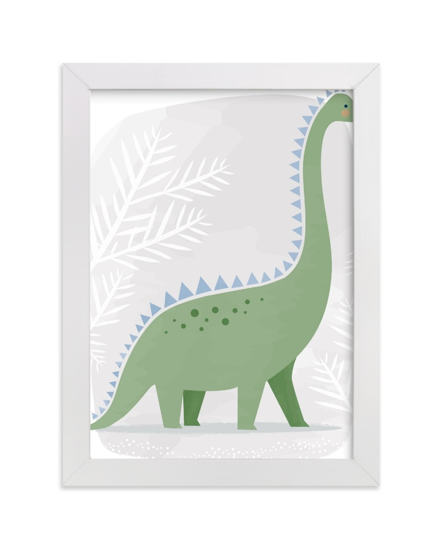 """""""Happy Dino"""" by Karidy Walker in beautiful frame options and a variety of sizes."""
