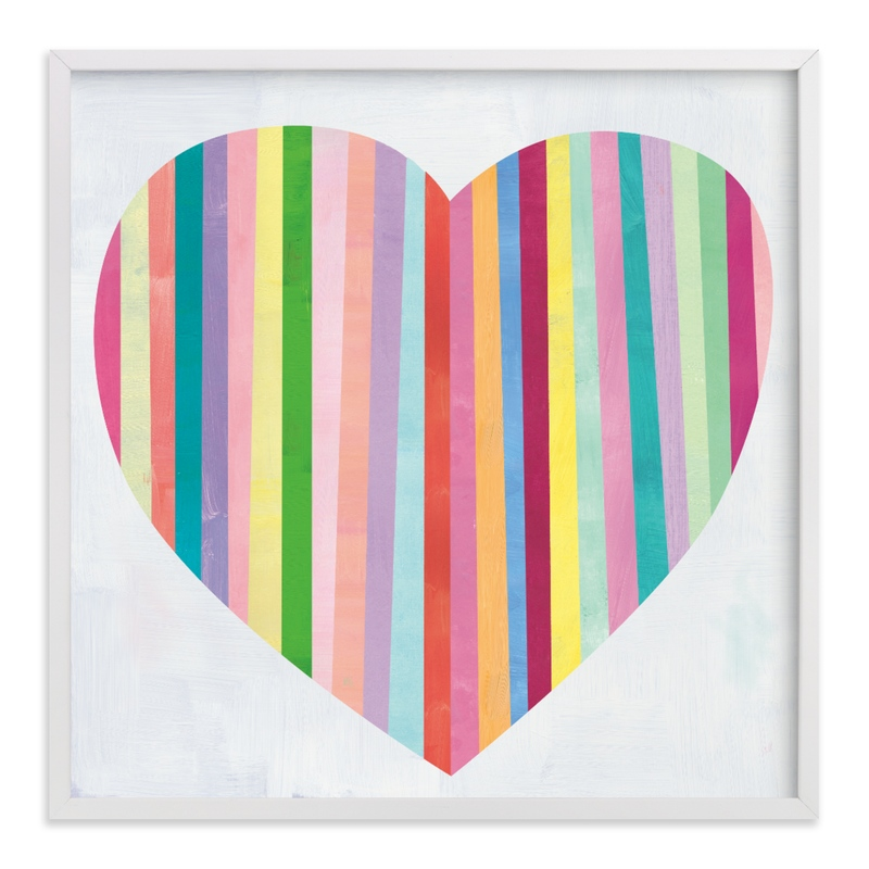 """""""Heart Stripes"""" by melanie mikecz in beautiful frame options and a variety of sizes."""
