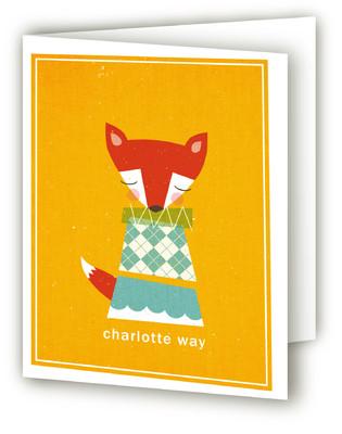 Foxy Folded Children's Stationery