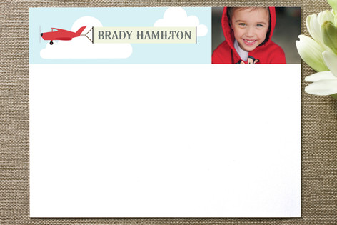 In the Clouds Children's Personalized Photo Stationery