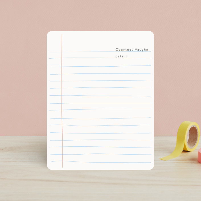 """""""Lined Notebook"""" - Modern Children's Stationery in Warm Grey by Betsy Siber."""
