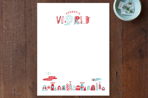 My World Children's Stationery