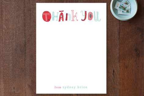 Quirky Thank You Children's Stationery