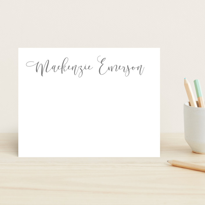 """""""Featured Name"""" - Children's Stationery in Cotton by Hooray Creative."""