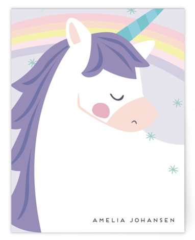 unicorno Children's Personalized Stationery