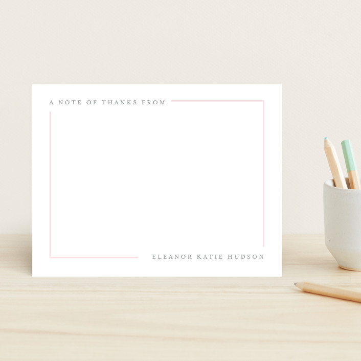 """""""Simply Serene"""" - Preppy Children's Stationery in Blush by Lauren Chism."""