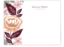This is a colorful kids thank you cards note by Alethea and Ruth called Peony Floral Vine with standard printing on signature in standard.