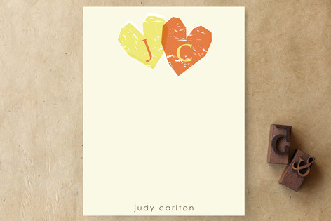 Double Heart Children's Stationery