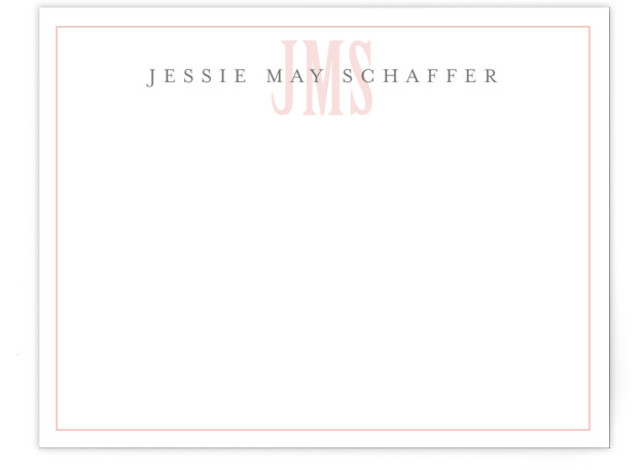 Classic Monogram Children's Personalized Stationery
