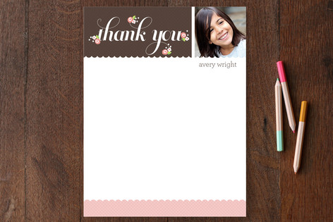 Thank You Posies Children's Stationery