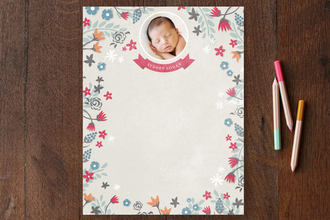 Whimsy Garden Children's Stationery