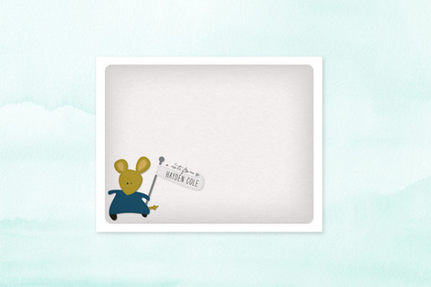 A Mousey Message Children's Stationery