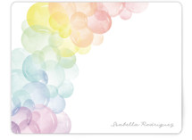 This is a blue kids thank you cards note by Robert and Stella called Balloon Arch with standard printing on signature in standard.