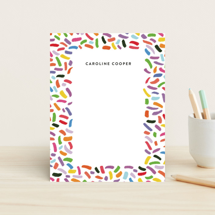 """""""Confetti Sprinkle"""" - Whimsical & Funny Children's Stationery in Gumdrops by Up Up Creative."""