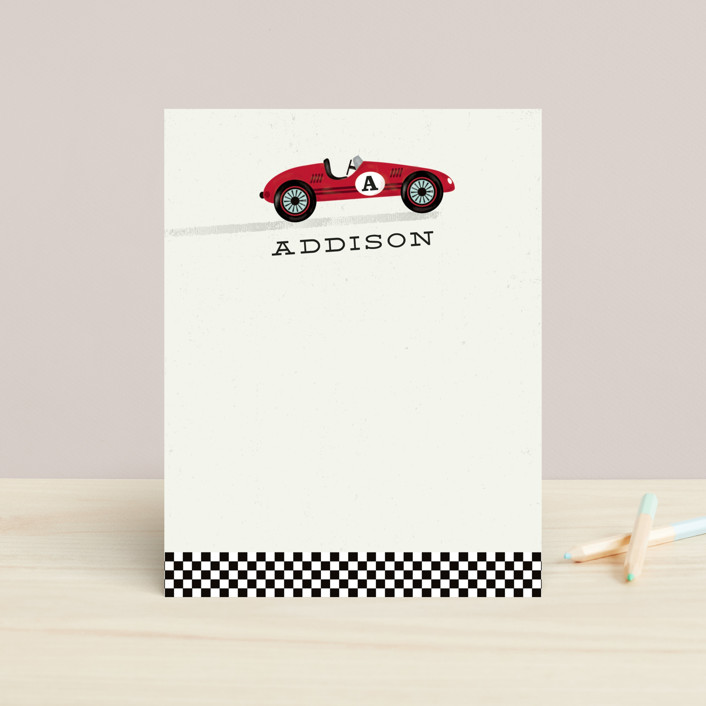 """Piccolo"" - Monogrammed Children's Stationery in Crimson by chocomocacino."