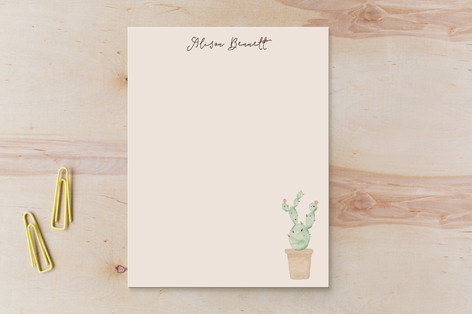 Pastel Cactus Children's Stationery