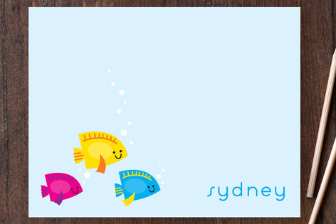Here Fishy Fishy Children's Stationery