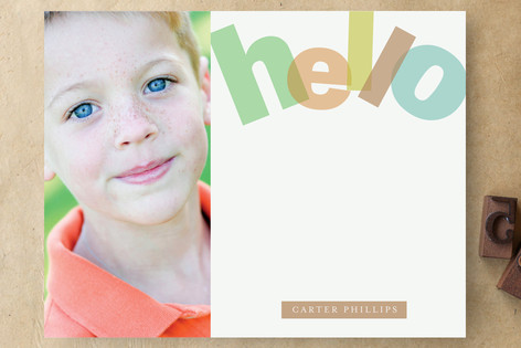 Big Bright Hello Children's Stationery