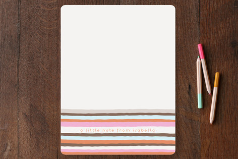 Vogue Stripes Children's Stationery