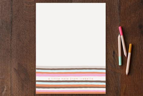 Vogue Stripes Children's Stationery